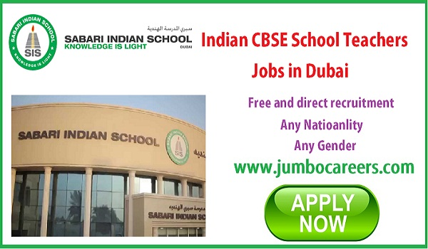 Latest school jobs in Dubai, urgent Dubai jobs for Indians,