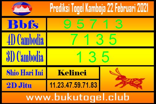 Prakiraan Kamboja untuk 22 Februari 2021