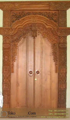 Kusen Pintu Gebyok Ukir Jati Jepara 2