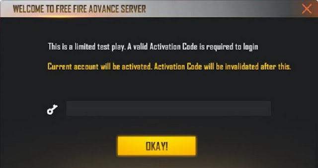 Kode Aktivasi Advance Server Januari 2021