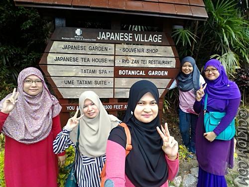 Alhamdulillah akhirnya sampai jugak ke Japanese Village