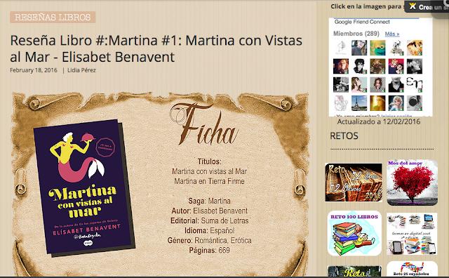 http://yerathel41.wix.com/agarratevienenlibros#!Rese%C3%B1a-Libro-Martina-1-Martina-con-Vistas-al-Mar-Elisabet-Benavent/ulspz/56b504750cf2b4e0b61c5adb