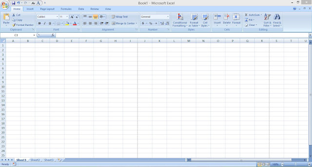 Mengenal Cell (Sel) dan Lembar Kerja Ms.Excel 2007