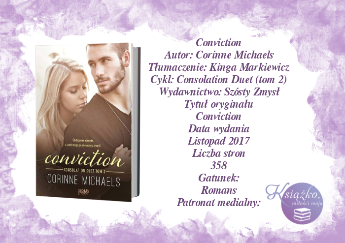 Conviction Corinne Michaels - Consolation duet tom 2 PATRONAT MEDIALNY