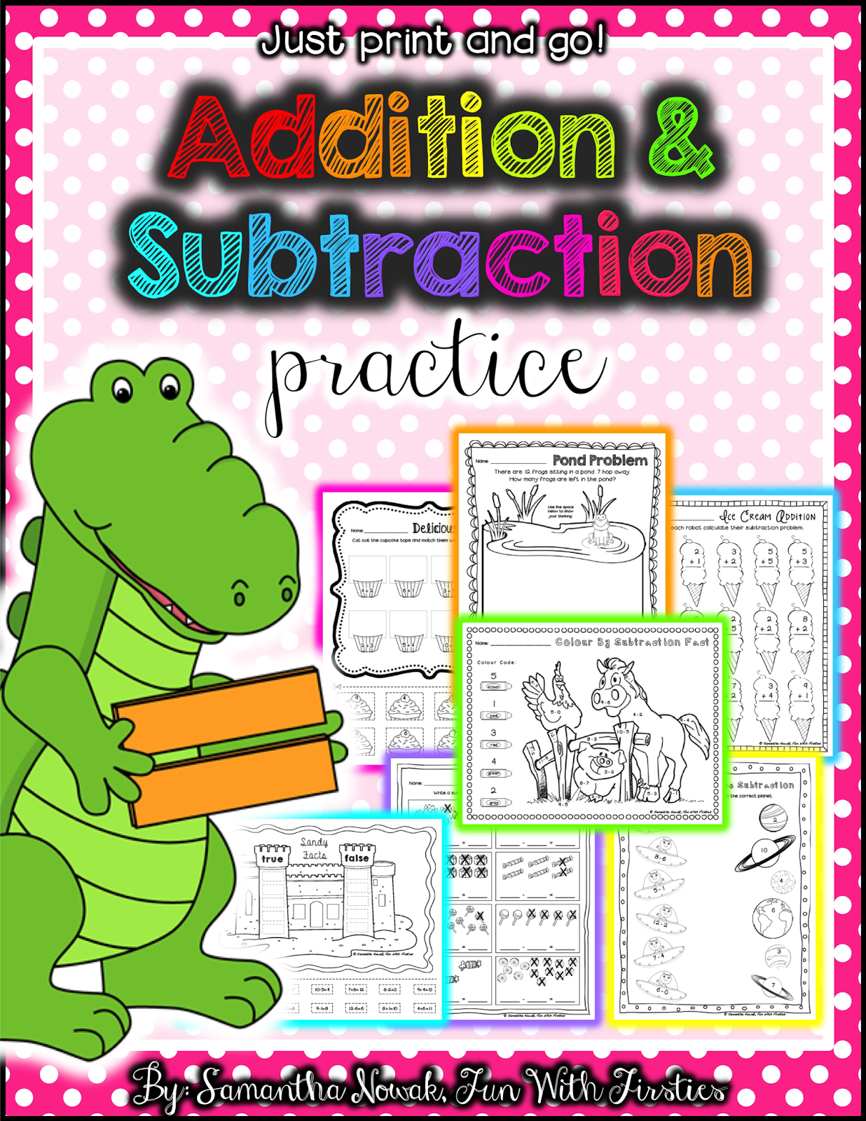 Dice Addition And Subtraction Worksheet