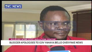 Blogger apologises to Gov Bello over fake news