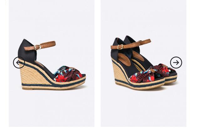 Sandale cu platforma Tommy Hilfiger de vara cu imprimeu multicolor