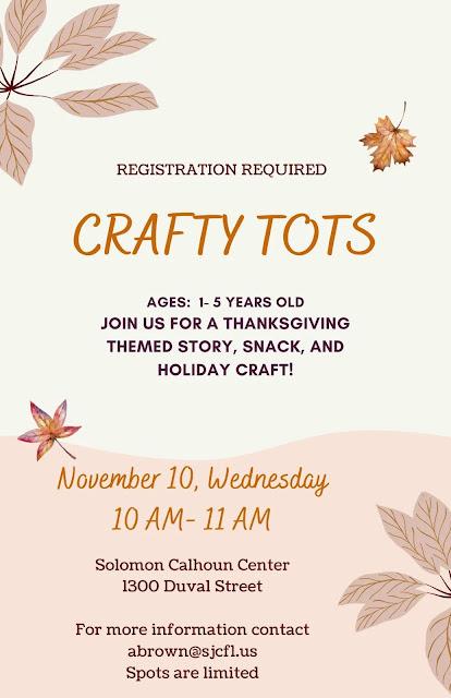 Crafty Tots program at the Solomon Calhoun Center