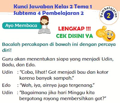 Kunci Jawaban Kelas 2 Tema 1 Subtema 4 Pembelajaran 2 www.simplenews.me