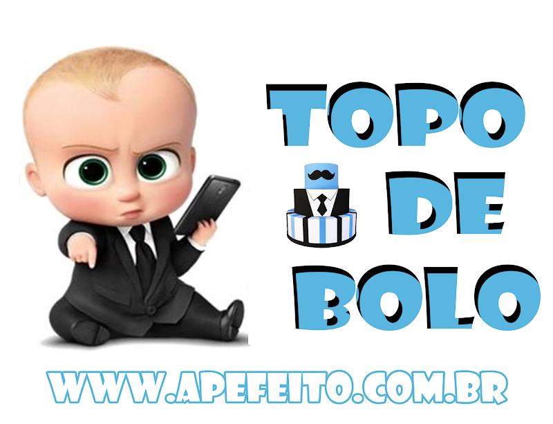 TOPO DE BOLO MÊSVESARIO PODEROSO CHEFINHO