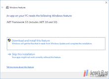 Cara Install .NET Framework 3.5 (Includes 2.0 and 3.0) di Windows 10 Secara Offline