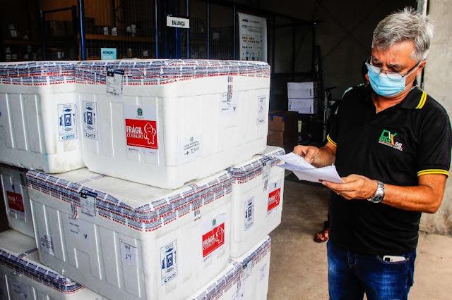 Pará recebeu a 30ª remessa de vacinas contra a Covid-19, na última quarta-feira (9)