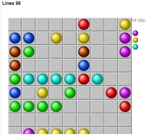 Line 98 online - Chơi game Line 98 màn hình rộng cũ cực hay d