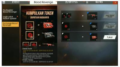 Cara Mendapatkan Token Katana Free fire dan Token Dart Free fire di Event Blood Revenge Free Fire