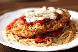 Oven-Baked Chicken Parmesan #healthyfood #dietketo