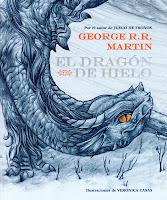 portada del libro de fantasía infantil El dragón de hielo
