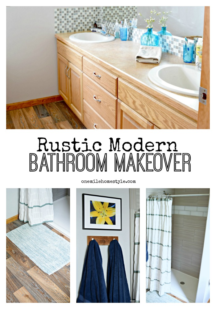 I Absolutely Love This Rustic Modern Bathroom Makeover So Bright And Fresh With Beautiful Worn
