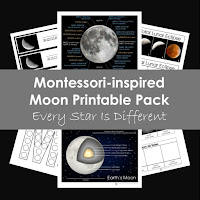 Montessori-inspired Moon Printablre Pack