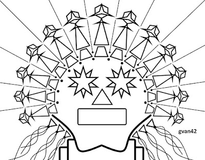gvan42 - robot with a headdress - free coloring book by gvan42