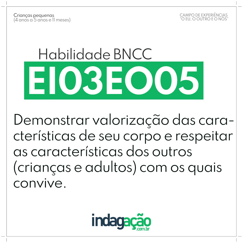 Habilidade EI03EO05 BNCC