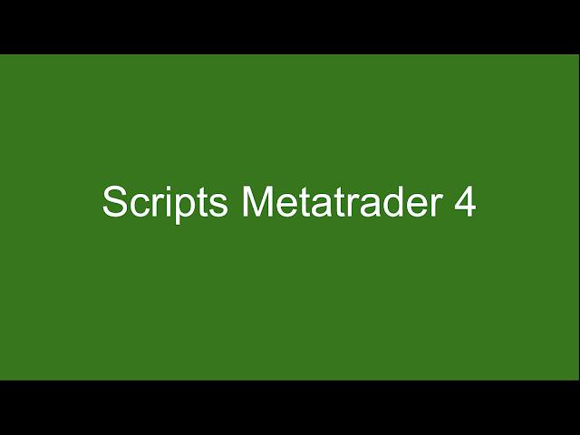 Contenido exclusivo para MetaTrader