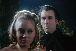 Linda Hayden and Christopher Lee in Taste the Blood of Dracula (1970)