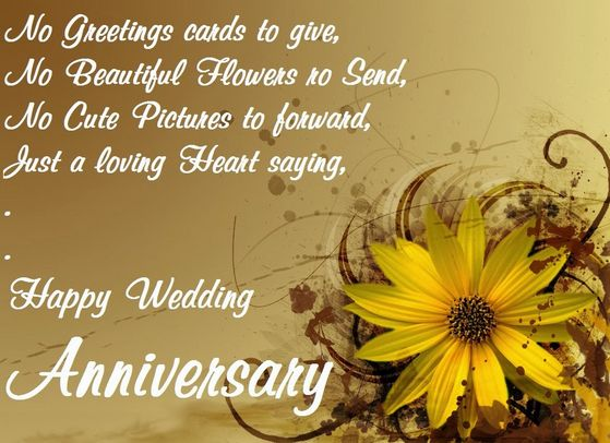 Anniversary messages for parents with beautiful pictures wedding