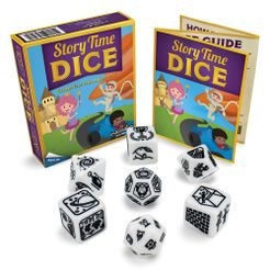 Componentes de Story Time Dice the board game
