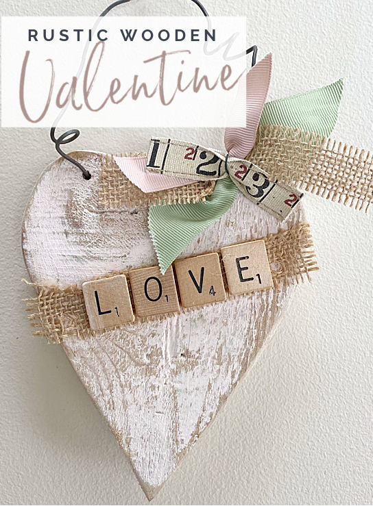 rustic heart with Pinterest pin overlay