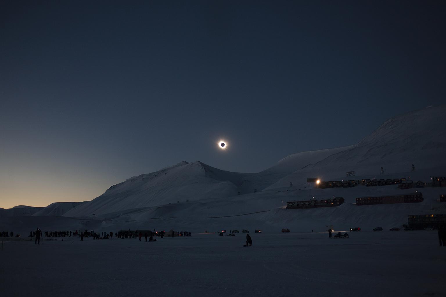 Arctic eclipse 2015, Longyearbyen