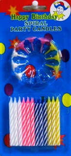 Свечи в торт 24 штуки.