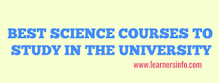 BEST SCIENCE COURSES TO STUDY IN THE UNIVERSITY