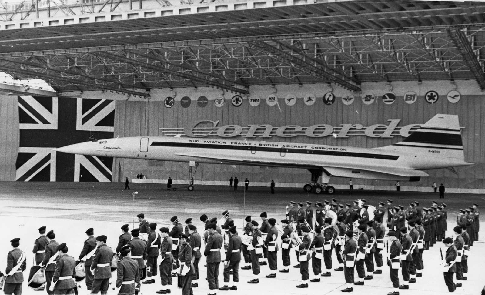 1967-ben a Concorde-ot először mutatták be a nagyközönségnek, Franciaországban, Toulouse-ban.