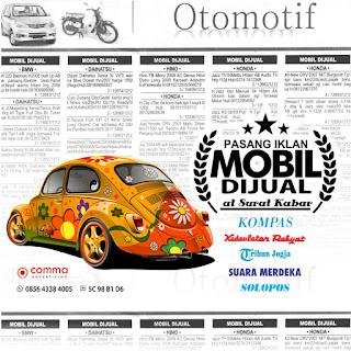 iklan baris mobil dijual di surat kabar