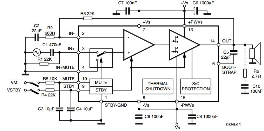 15 15w dual bridge amplifier tda7297 diy. Black Bedroom Furniture Sets. Home Design Ideas