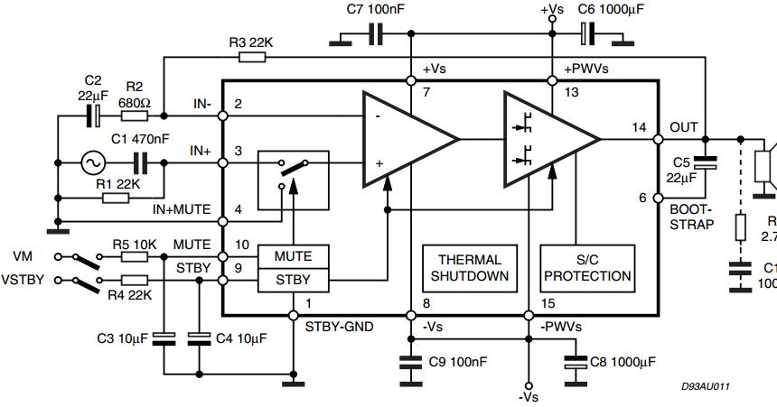 15w class b audio amplifier