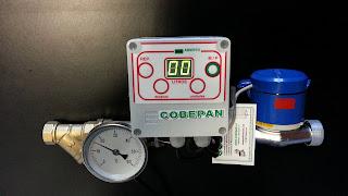 Cuenta litros Automatico con Termometro agua Caliente