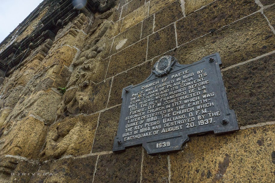 Paete Church's historical marker