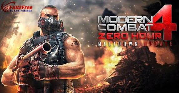 Android : Modern Combat 4: Zero Hour 1.1.7c Mod + Data