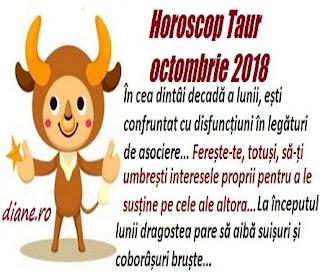 Horoscop Taur octombrie 2018