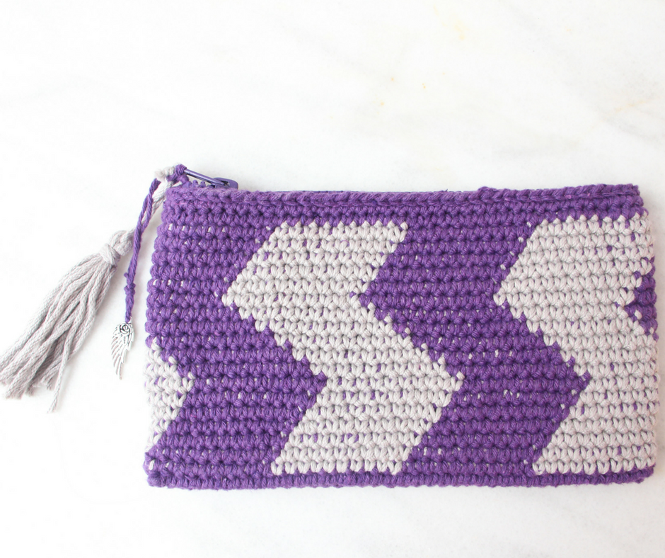 estuche crochet tapestry