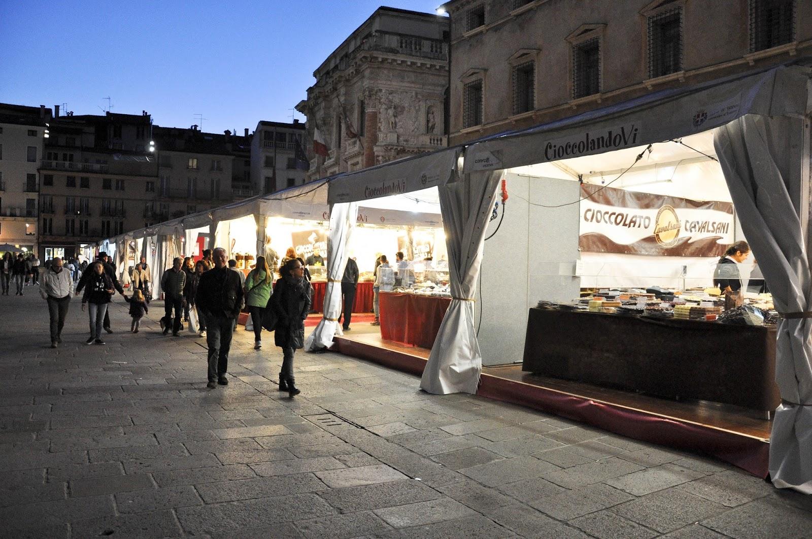 Chocolate Festival CioccolandoVi, Piazza dei Signori, Vicenza, Veneto, Italy