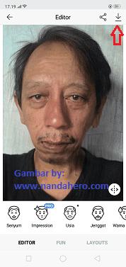 cara edit foto tua dengan face app