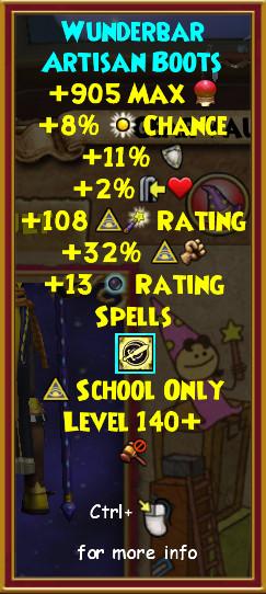 Wizard101 Level 140+ Gear Drops: Karamelle Gear Guide