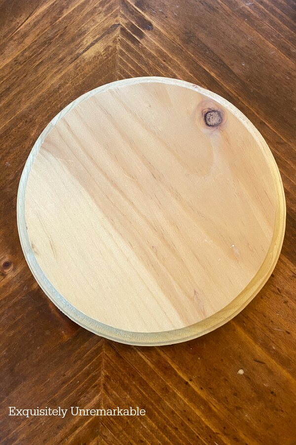 Unfinished Wooden Round