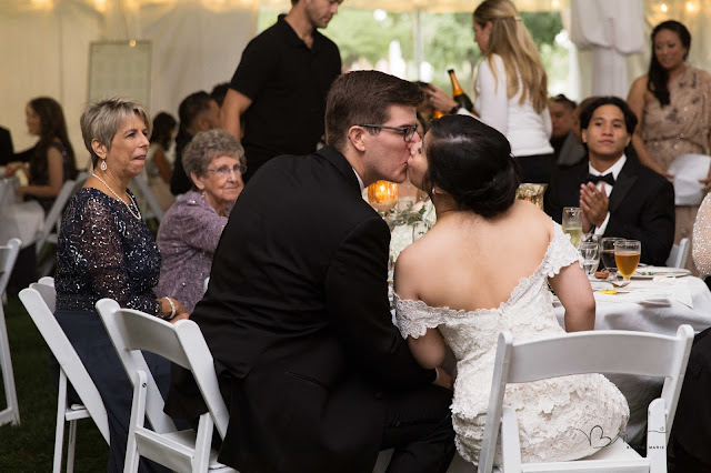 kissing during toasts