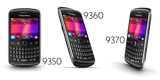 BlackBerry Curve 9350, 9360, 9370 announced