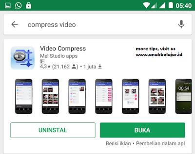 cara memperkecil memori video di android