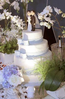 4 Detalhes de um casamento em azul e branco...