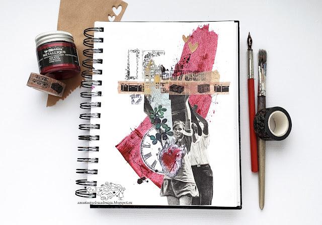 @nastyalena #artjournal #mixedmedia #scrapbooking